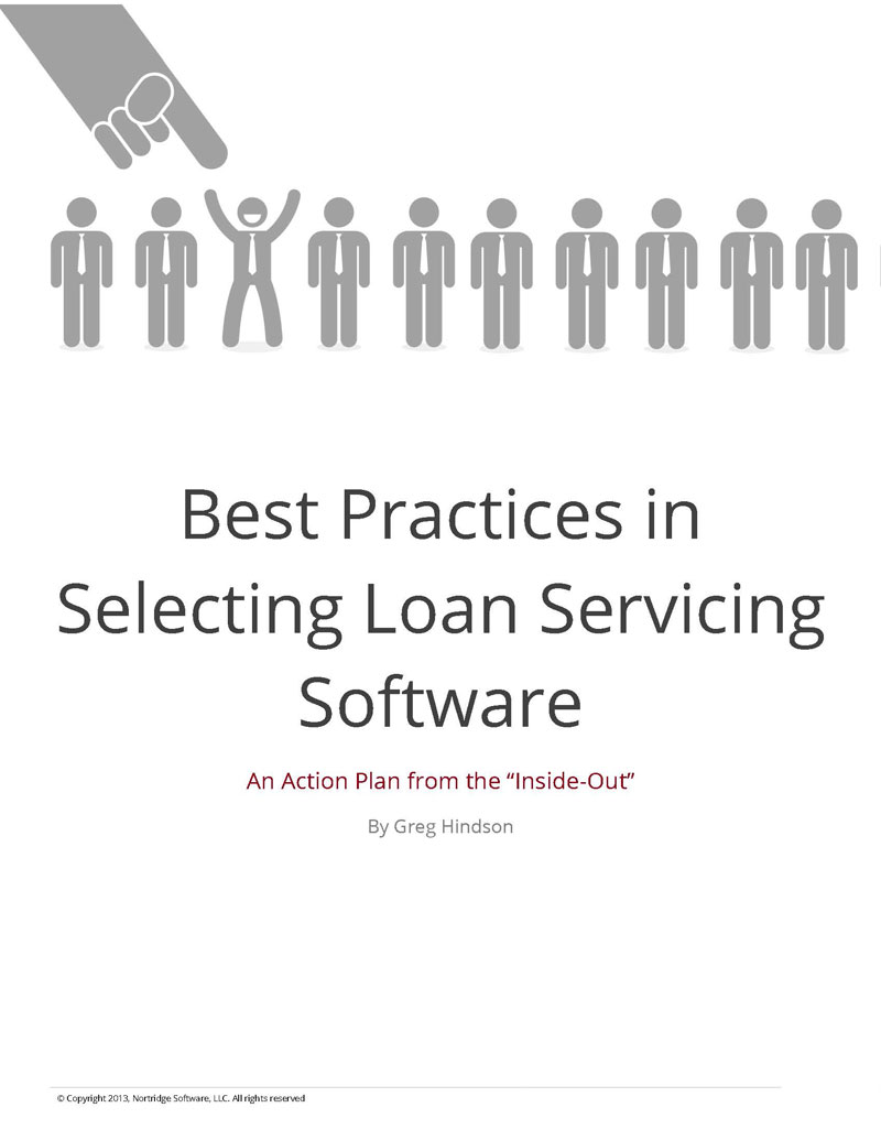 best practices in selecting loan servicing software white paper cover page for the best practices in selecting loan servicing software
